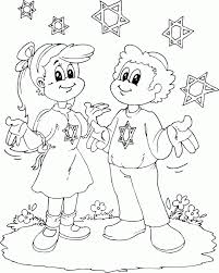 Small Picture boy and girl with Stars of David coloring page coloringcom