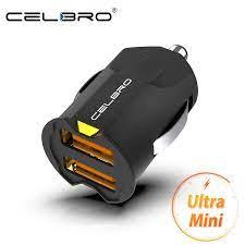 En küçük Mini USB araç şarj adaptörü 2A araba USB şarj cihazı cep telefonu  çift USB araç şarj cihazı otomatik şarj 2 port iPhone Samsung için|Car  Chargers