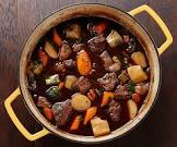 beef stew  with roasted root vegetables