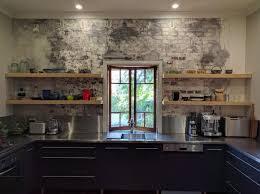 Exposed Brick Kitchen Floating Kitchen Shelves On Exposed Brick Finer Finishersfiner