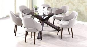attractive round dining table with 6 chairs stunning for
