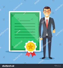 professional certification business education concepts happy stock  professional certification business education concepts happy man in suit diploma and gold award