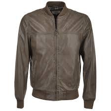 leather er jacket taupe danny