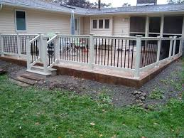 patio railing patio fence concrete patio