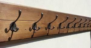 Wall Mounted Wood Coat Rack Chunky Vintage Style Wall Mounted Wooden Coat Rack 1000 to 100 Hooks eBay 42