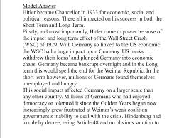 gcse history why did hitler become chancellor  gcse history why did hitler become chancellor 1933