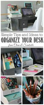 organize office desk. I Love These Simple Organization Ideas To Keep Your Desk Neat And Organized! Organize Office S