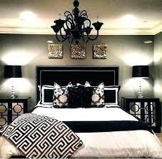 black white gold bedroom