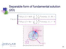 33 separable form of fundamental solution 2d