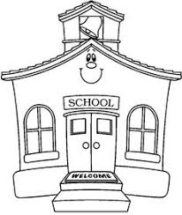 desk clipart black and white. School House Clipart Black And White Desk