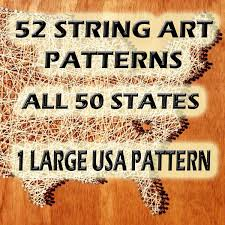 String Art Patterns String Art Patterns All 50 States And Usa String Art
