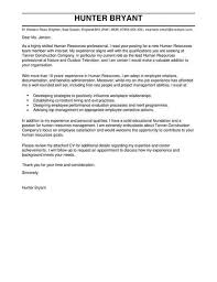 Sample Human Resources Cover Letters Human Resources Cover Letter Templates Cover Letter