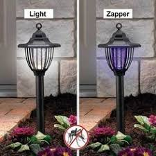 2 in 1 zapper and light led solar powered outdoor electronic bug 2 in 1 solar bug zapper stake light lantern yard accent mosquitos outdoor