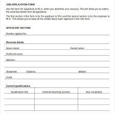 Generic Blank Job Application Blank Job Application 8 Free Word Pdf Documents Download Free