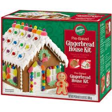 Premade Gingerbread Houses Pre Baked Gingerbread House Kit Wilton