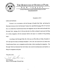 or releases letter to community on eve of christmas tree roselle park nj many questions have been raised on the resignation of councilw charlene storey as to why she was allowed to rescind her resignation