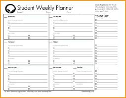 homework planner template pdf homework planner template printable homework planner template