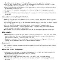 Figurative Language Chart Printable Figuring Out Figurative Language Lesson Plan Education Com