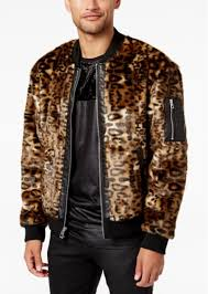 guess men s faux fur er jacket