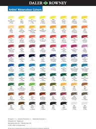 Watercolor Chart Winsor Newton Winsor Newton Professional Watercolor Chart Pdf
