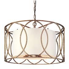 troy sausalito five light drum pendant on within drum pendant light fixture
