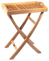 teak folding serving tray outdoor with cover traditional side tables