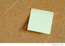 Picture Of Post It On Cork