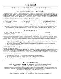 Entry Level Environmental Engineer Resume Sample