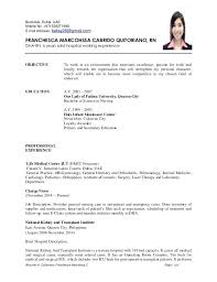 sample resume for filipino nurses resume of c page 1 of 6 sample resume  philippines nurses