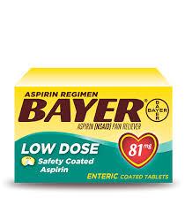 Bayer Low Dose Aspirin Therapy Bayer Aspirin