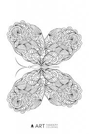 Small Picture Free Butterfly Coloring Page for Adults Art Therapy Coloring