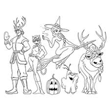 Small Picture Halloween Disney Frozen Printable Coloring Pages Coloring