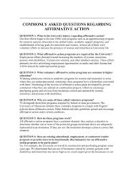 Commonly Asked Questions Regarding Affirmative Action
