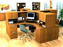 bestar hampton corner computer desk wood home office in tuscany brown workstation wo