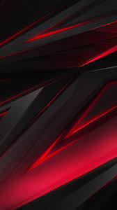 Black, Red, Abstract, Polygon, 3d, 4k ...