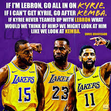 Image result for kyrie or kemba to lakers