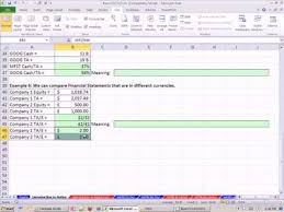 Excel Financial Statement Excel Finance Class 14 Financial Statement Ratio Analysis 1 Trick For Ratio Analysis