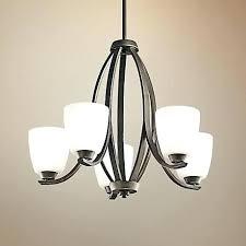 bay 5 light crystal chandelier pink tutu finish the home depot hampton carina