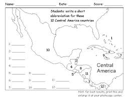 Blank Map For Central Countries Of South America Quiz Kingdomcolor