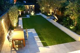 modern garden design and beautiful