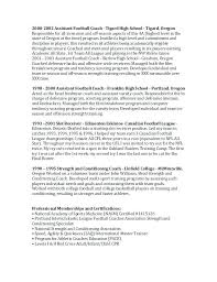 Football Coach Resume From Football Coach Resume Cover Letter