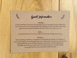 Wedding Guest Information Template
