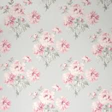 Pink Flower Wallpaper For Bedrooms Laura Ashley Beatrice Cyclamen Floral Wallpaper Patterns