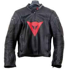 dainese perforated leather motorcycle jacket