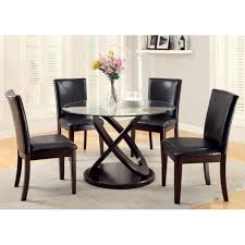 glass top dining room sets monarch olympic ring dark espresso glass top round dining table image with excellent ikea round glass top coffee table oak legs