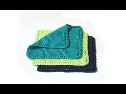 Knit Dishcloth Pattern Beauteous Learn To Knit A Dishcloth YouTube