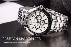 hot stylish curren sports men watch stainless steel white hot stylish curren sports men watch stainless steel white adjustable quartz analog wrist watch men s watches shiping