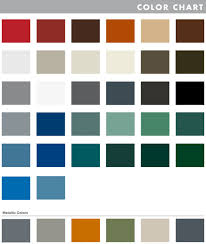 Efco Anodized Color Chart Ce Center Metal Exterior Walls