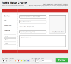 free ticket creator 3 ways to print cheap or free numbered raffle tickets for your