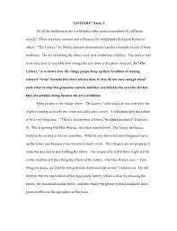 the lottery essay twenty hueandi co the lottery essay